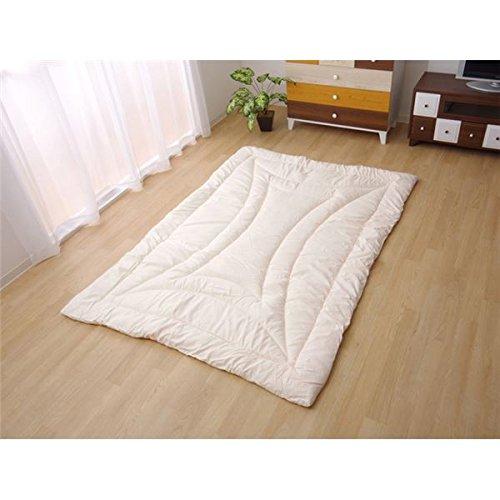 掛け敷き布団 関連 おしゃれ 吸湿発熱 寝具 アイボリー シングル 約150×210cm B07RRSK7N1