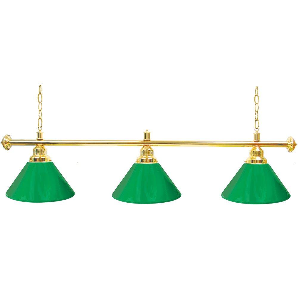 Trademark Gameroom Green Three Shade Gameroom Lamp, 60'' (Gold Hardware)