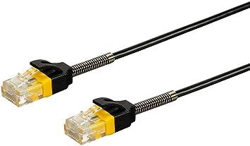 Monoprice SlimRun Cat6 28AWG UTP Ethernet Network Cable 3ft Black
