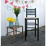 Cheap Dixie Seating Company 30 in. Woven Ladderback Barstool in Black Finish 511065