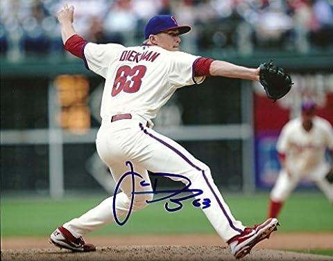 Jake Diekman Autographed Photograph - 8x10 W COA HORIZONTAL - Autographed MLB Photos (Jake Diekman)