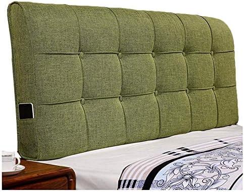 WZBヘッドボードクッション通気性に優れた肌に優しいシンプルな衝突防止枕、ウエスト、3色、6サイズ(色:C-緑、サイズ:190x60x12cm)をサポート