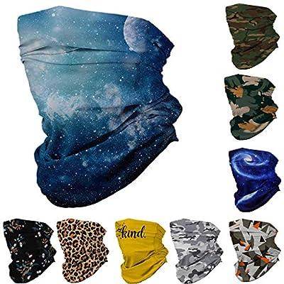Simayixx Men Women's Turban Scarf Bicycle Neck Tube Bandana Face Protection Dust Casual Headwear Seamless Neck Gaiter (E, Free Size): Clothing