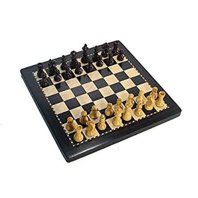 "8"" Black Magnetic Analysis Chess Set with Case"