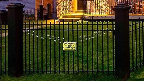 Amazon.com: Halloween LED Flashing Lights Electric Fence Sounds ...