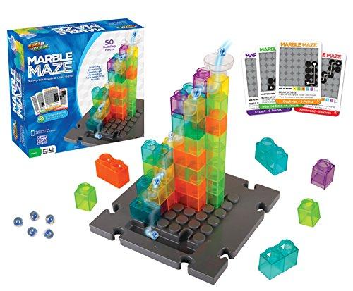 - Marble Genius Marble Maze - 50 Building Pieces + 60 Challenge Cards + Free App