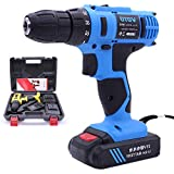Toos Accessory 21V Stepless Speed Regulation Rechargeable Hand Drill Set Electric Drill Power Tools with LED Light, AC 220V, US Plug, Random Color Delivery Hand Tools
