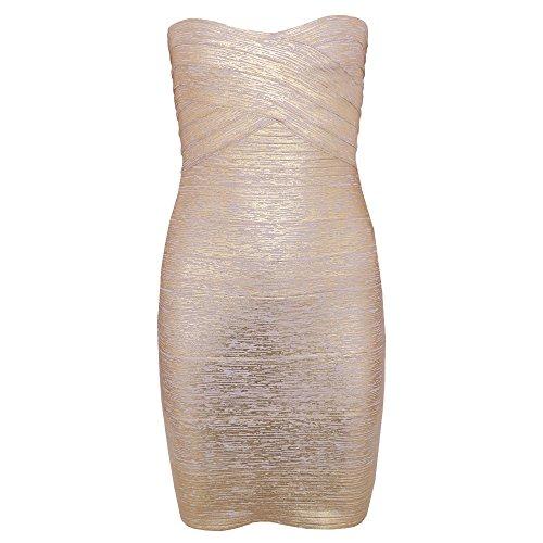 Strapless Dorado Hlbandage Rayon Women's Stretch Dress Party Bandage 0wZREqZ