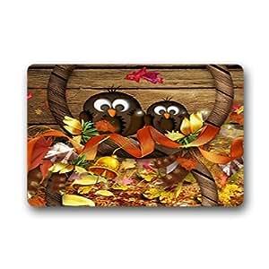 """Custom Owl Doormat Outdoor Indoor 18""""x30"""" about 46cmx76cm"""