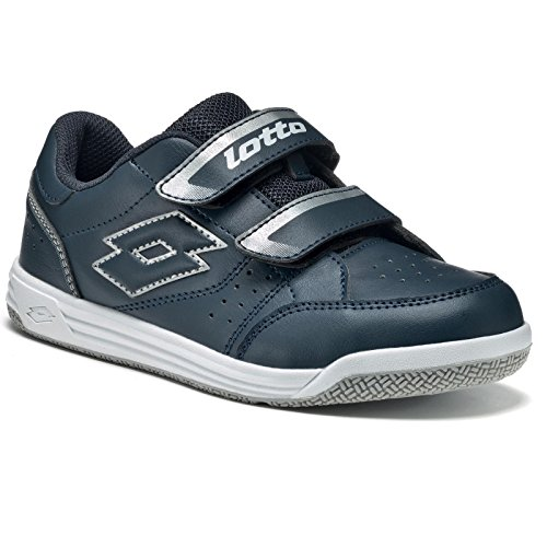 Lotto T-Basic Viii Cl S, Zapatillas de Tenis Unisex Bebé Azul / Plateado (Blu Avi / Slv Mt)