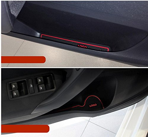 10pc Car non Slip Interior Door Cup Cushion Mat Stickers For Volkswagen Polo VW Polo 2011/ 2012/ 2013/ 2014/ 2015/ Accessories