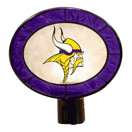 (Minnesota Vikings Art Glass Night Light )