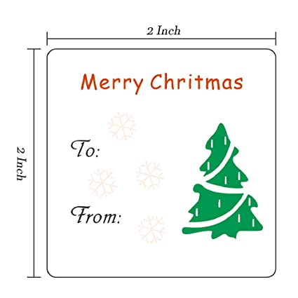 Christmas Gift Tags For Kids.Amazon Com Christmas Gift Tags Holiday Present Stickers