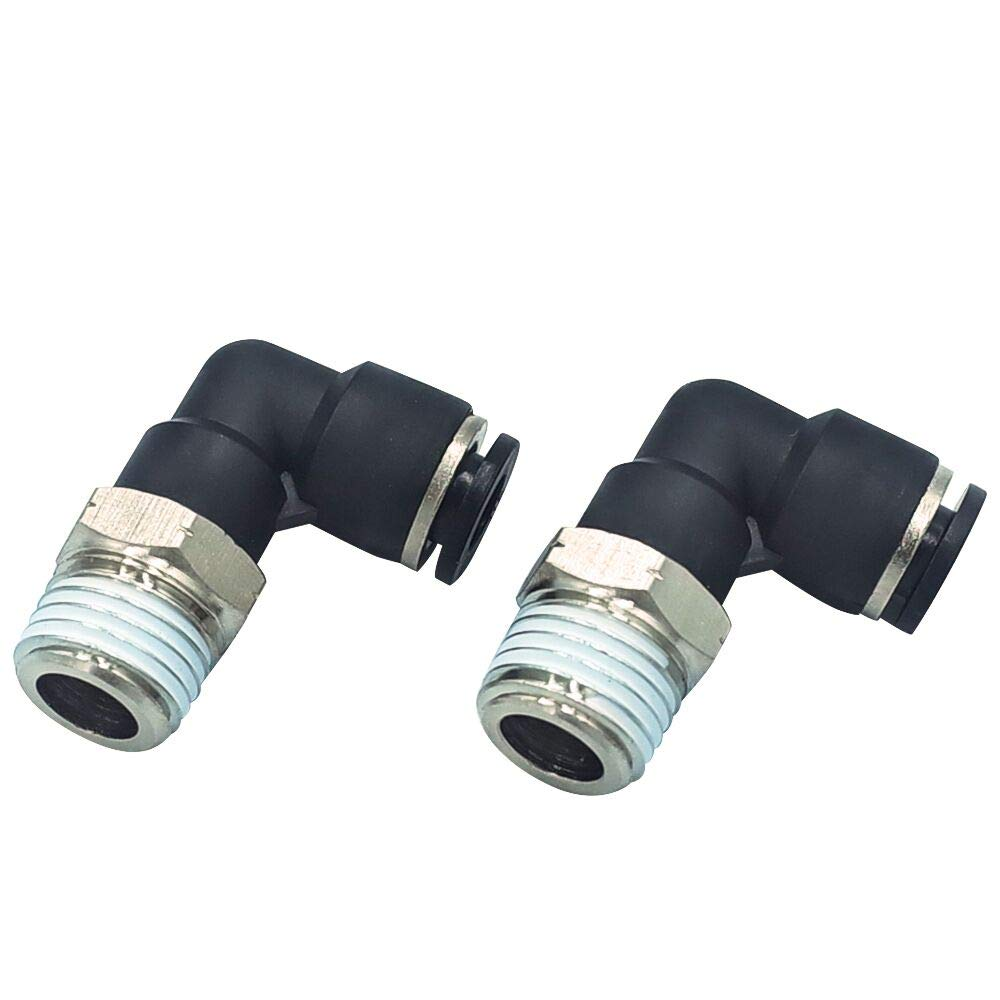 Tailonz Pneumatic Male Elbow 1//4 Tube OD x 1//8 NPT Thread,PL-1//4-N1 Push to Connect Tube Fitting Pack of 10