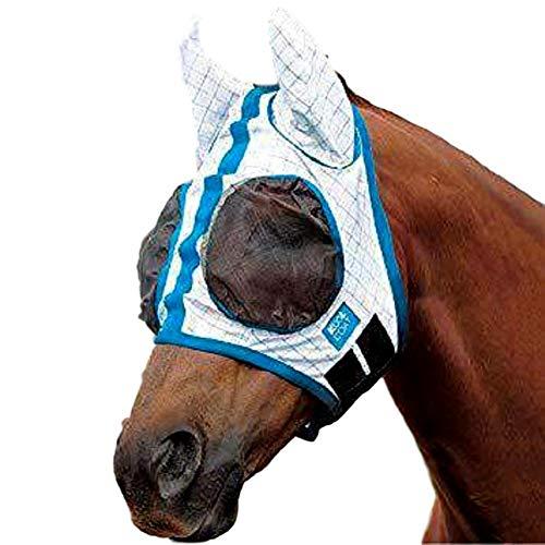 Kool Coat Lite Fly Mask, White/Blue, Cob