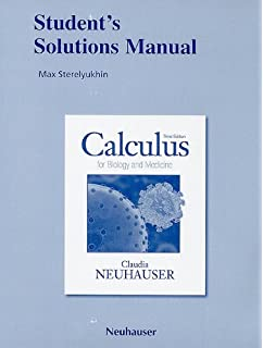 Calculus for biology and medicine claudia neuhauser students solutions manual for calculus for biology and medicine fandeluxe Gallery
