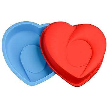 JasCherry Forma de corazón Moldes de Silicona para Tartas, Bizcocho y Paste #5: Amazon.es: Hogar
