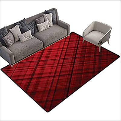 Amazon com: Baby Crawling Area Mats Red and Black, Scottish