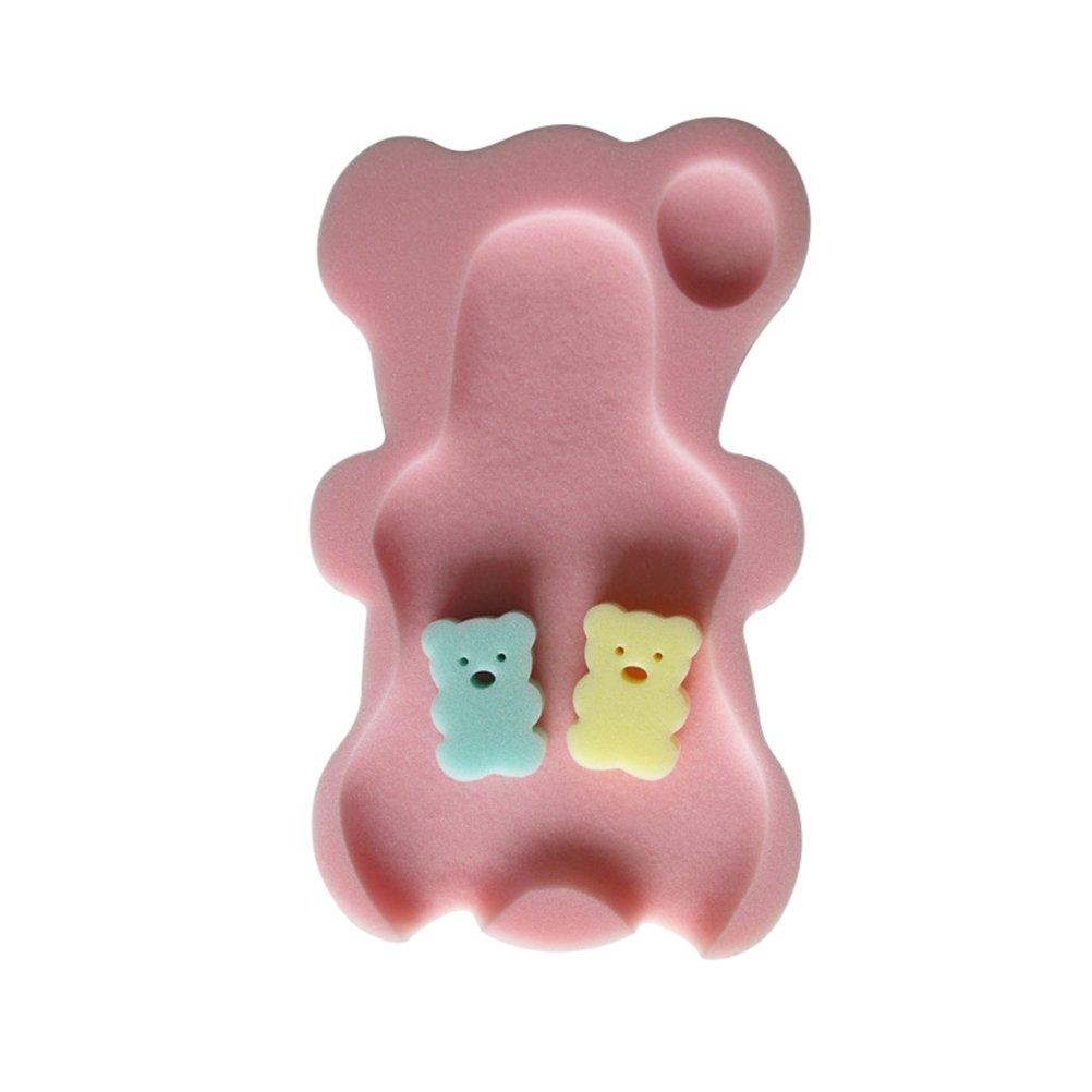 YeahiBaby Alfombra de baño para bebé Esponja antideslizante estera de baño para niños infantil(Melocotón rosa)