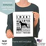 Dog Decor Rottweiler Wall Art - Quote Print (8.5x11 Unframed) | Pet Memorial Gifts | Dog Mom Gift | New Puppy Keepsake | Original Rottweiler Gifts for Dog Lovers 8