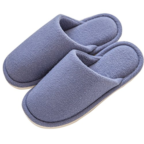 Indoor slip House Knitted For Anti Blue Mianshe Womens Lightweight Cotton Slippers Comfort Mens Shoes Home wSB1Uqz