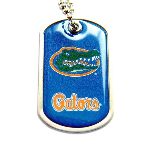 aminco Florida Gators Dog Tag Domed Necklace Charm Chain