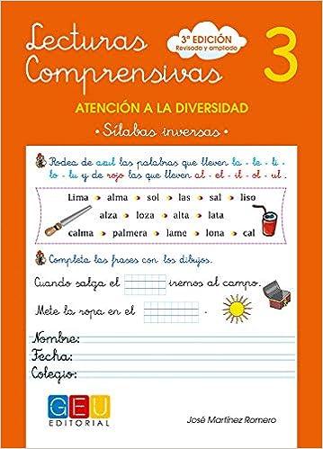 Lecturas comprensivas 3 - Sílabas Inversas: Amazon.es: José Martínez Romero: Libros