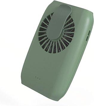 LY Ventilador Personal, USB Recargable Que cuelga del Cuello del Ventilador, Ventilador eléctrico portátil, Tranquilo y Fresco, for Uso al Aire Libre en el hogar (Color : Verde): Amazon.es: Electrónica