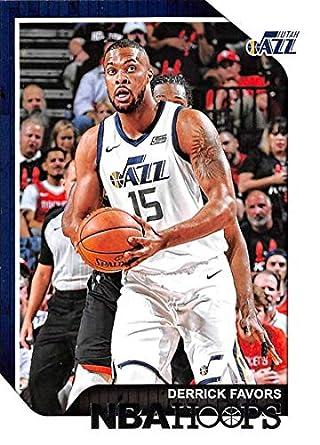 5925286eb5af5 Amazon.com: 2018-19 NBA Hoops Basketball #120 Derrick Favors Utah ...