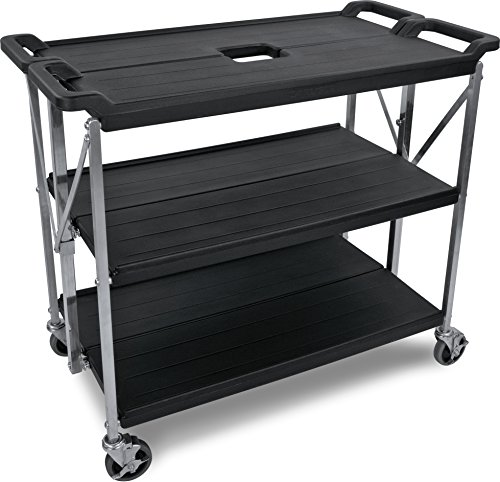 Carlisle SBC203103 Fold 'N Go Collapsible Utility Cart, 350 Pound Capacity, 31'' Length x 20'' Width Shelf, Black by Carlisle