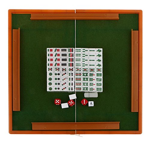 Smartchef Portable Chinese Traditional Game Set Mahjong Gathering Party Fun Toy Green
