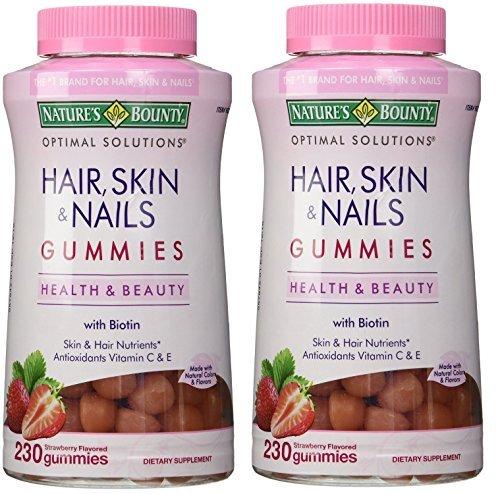 Nature's Bounty Hair Skin and Nails, 230 Gummies 2 Pack