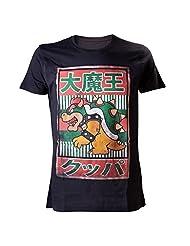 Nintendo Super Mario Men's Bowser Kanji T-shirt Black