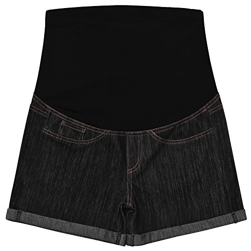 Black Maternity Shorts Pants Pregnant Women by Bhome
