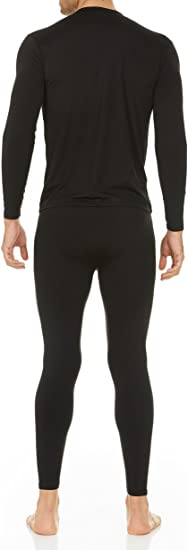 Snow Love Mens Ultra Soft Thermal Underwear Long Johns Set with Fleece Lined and Fly