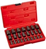 "Neiko 04204A Hex Head Multi-Spline Screw and Bolt Extractor 25-Piece Set | 1/8"" to 7/8"" by 1/32"" Increment"