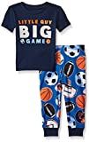 Image of The Children's Place Baby-Boys Li'l Guy's Short Sleeve & Pant Pajamas Set, Tidal, 12-18 months