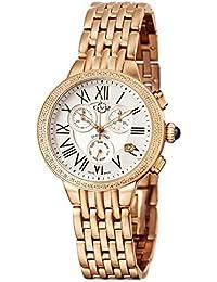 by Gevril Astor Chronograph Womens Diamond Swiss Quartz Rose Gold Tone Stainless Steel Bracelet Watch, (Model: 9132)