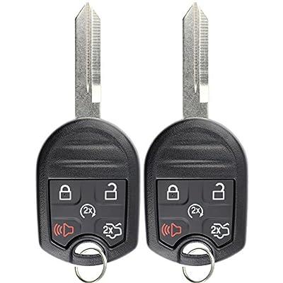 KeylessOption Keyless Entry Remote Control Fob Uncut Blank Ignition Car Key Remote Start for CWTWB1U793 (Pack of 2): Automotive
