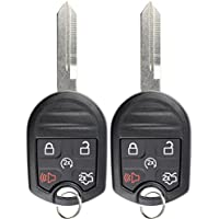 KeylessOption Keyless Entry Remote Control Fob Uncut Blank Ignition Car Key Remote Start for CWTWB1U793 (Pack of 2)