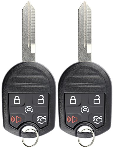 KeylessOption Keyless Entry Remote Control Fob Uncut Blank Ignition Car Key Remote Start for CWTWB1U793 (Pack of 2) by KeylessOption