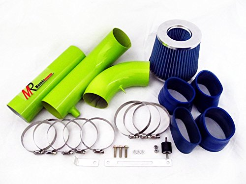 94 95 96 97 Chevrolet Camaro Z28 5.7L V8 Green Piping Cold Air Intake System Kit with Blue Filter