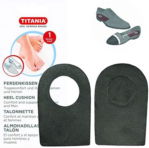 Titania Heel Cushions 1 Pair- Non Slip & Comfy Heel Cushion Inserts with Adjustable Section - Daily Added Support & Instant Pain Relief For Men & Women