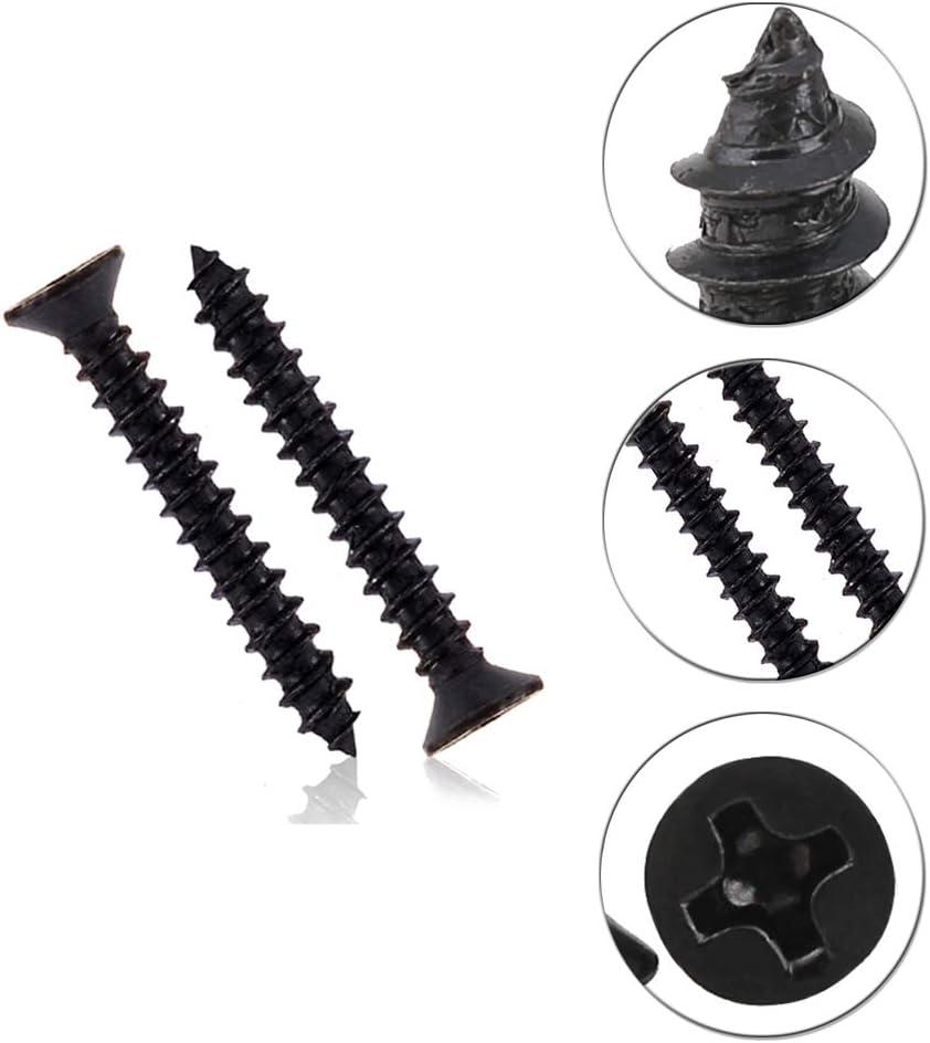 1000pcs Flachkopf Schwarz Kohlenstoffstahl Selbstschneidende Schrauben KINDOYO M1//M1.2//M1.4//M1.7 Schrauben 1000pcs Schwarz M1.4 * 6mm