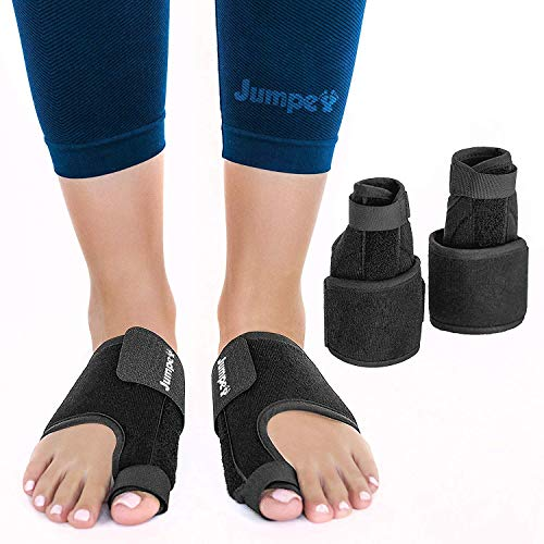 - Jumpex Bunion Corrector and Bunion Relief | Orthopedic Big Toe Straightener for Women and Men | 100% Adjustable Bunion Splint | Treat & Prevent Hallux Valgus, Black