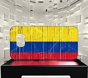 Funda Carcasa para Galaxy S6 Bandera COLOMBIA 04