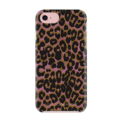 Rebecca Minkoff iPhone 7 Case, Double Up Designer Phone Case fits Apple iPhone 7 - Leopard Print Tinted Case/Brown Multi