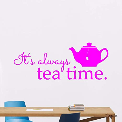Tea Time Kitchen Vinyl Sticker Art Poster Home Decal Decor ...