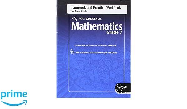 Amazon.com: Holt McDougal Mathematics: Homework and Practice ...