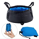 Multifunctional Collapsible Travel Outdoor Camping Hiking Wash Basin Folding Bucket With Bag